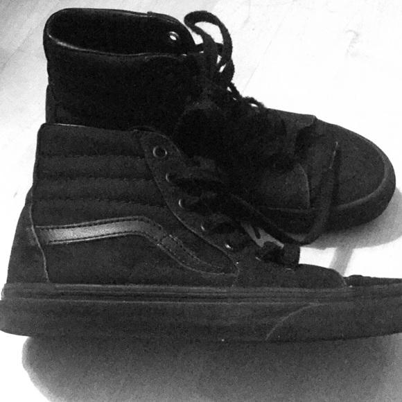 Vans Shoes   High Top All Black Canvas